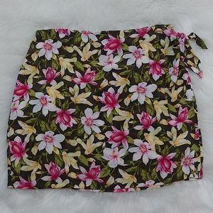 Floral Beach/Pool Wrap Skirt